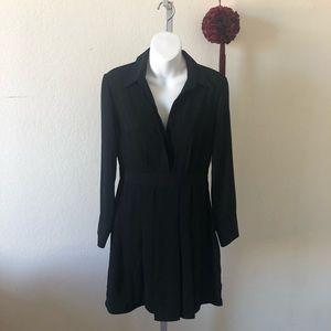 Topshop Black Long Sleeve w/pleated Skirt Dress 4